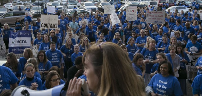 Can Florida teachers walk out too? It's not a good idea, unions say