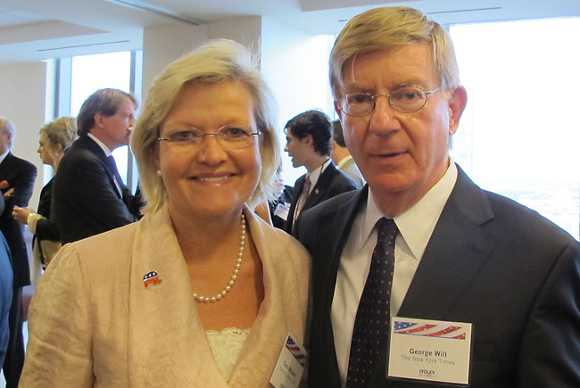 Cleta Mitchell and George Will