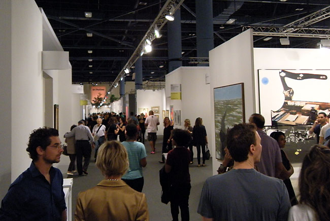 At Art Basel, Miami Beach, 2012