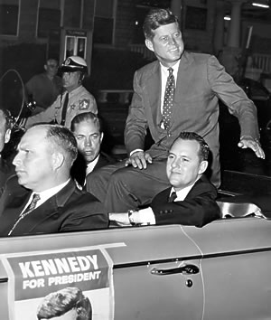 Louis Ritter campaigns with Kennedy