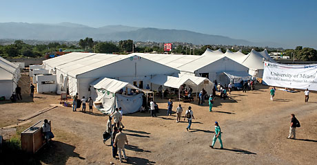 Volunteer hospital in Haiti