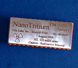 NanoTritium battery