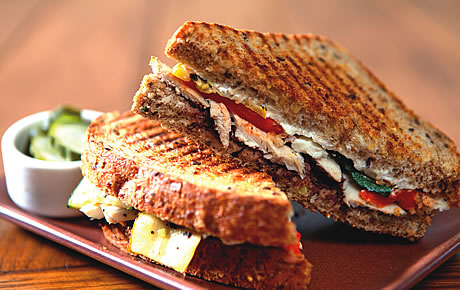 Barnie's Chicken panini