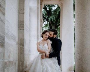 Lauren & Brett Atrium at Curtis Center Wedding