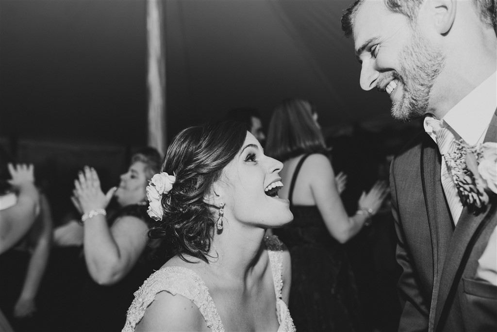 bride and groom dancing at greenville country club wedding