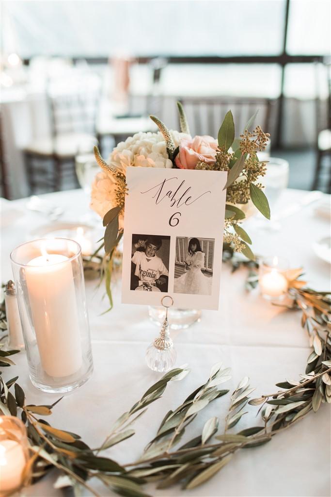 simple elegant centerpiece by fresh designs florist