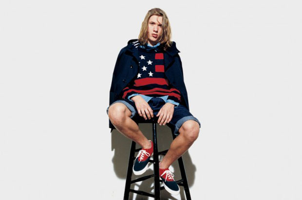 SOPHNET Stars And Stripes Crew Neck Knit