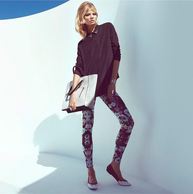 Famous Swedish retailer H&M recently contracted top model Magdalena Frackowiak to showcase their Spring's Key Pieces 2013 lookbook. The collection draws its inspiration from the trendy 60's fashion where accessories were best suited in gold and mint colors.
