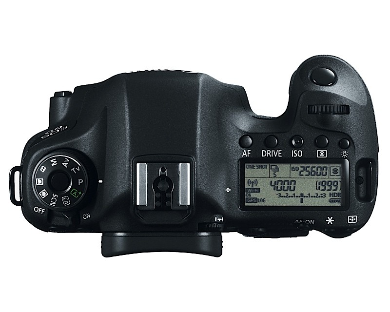 Canon EOS 6D Full-Frame Top View