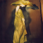 Guinevere in yellow dress, Paris, 1996