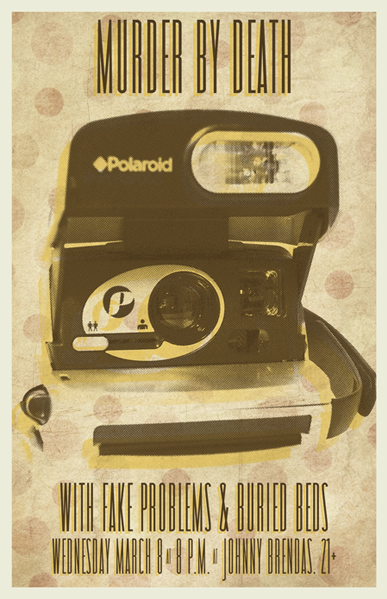 Gig poster for R5 Productions.