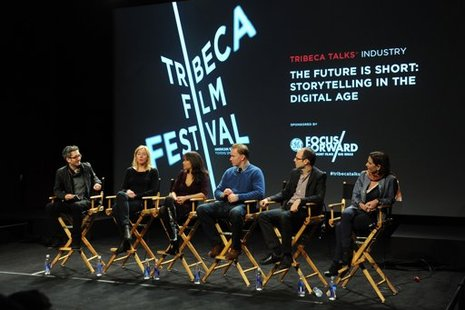 Tribeca Talks Industry: The Future Is Short: Storytelling In The Digital Age panel during the 2012 Tribeca Film Festival. (Photo by Craig Barritt/Getty Images)