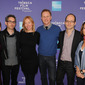 "(L-R) Laura Lee, Jason Wishnow, Annie Sundberg, Morgan Spurlock, Jason Spingarn-Koff, and ""Solar Roadways"" director Michele Ohayon. (Photo by Craig Barritt/Getty Images)"