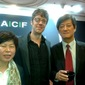 Damon Smith with ACF's Hyosook Hong and Busan Festival Director Lee Yong-Kwan
