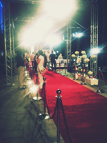 Red carpet at Dubai International Film Festival