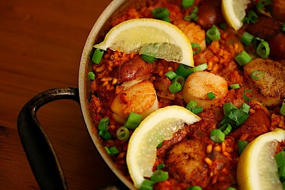 Scallop and Andouille Paella