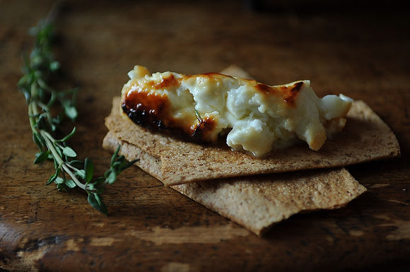 Roasted Feta with Thyme Honey