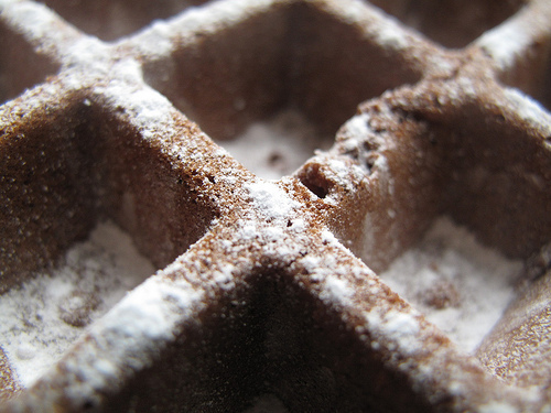 Chocolate and Cardamom Waffes