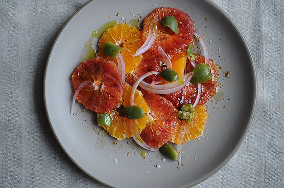 Blood Orange Salad with Olives and Chile