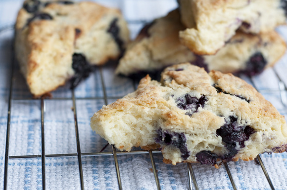Lemon-Blueberry Ricotta Scone