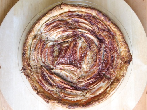 Apple Tart with Walnut-Horseradish Frangipane