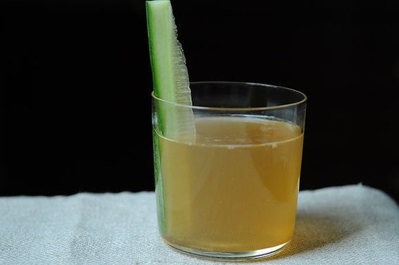 Ginger Ale with Cucumber