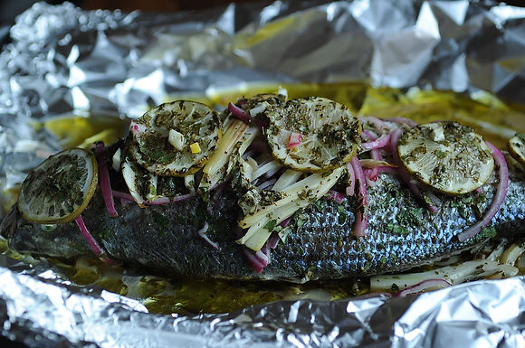 Fish Baked in a foil with Fennel and Lime