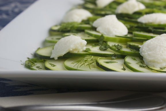 Zucchini &amp; Cucumber &quot;Beat the Heat&quot; Carpaccio