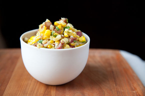 Corn Salad with Cilantro & Carmelized Onions