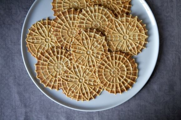 Meyer Lemon Pizzelle
