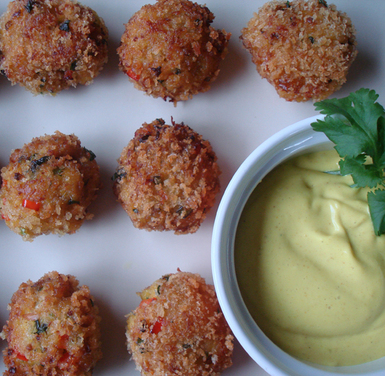 Curried Crab Bites