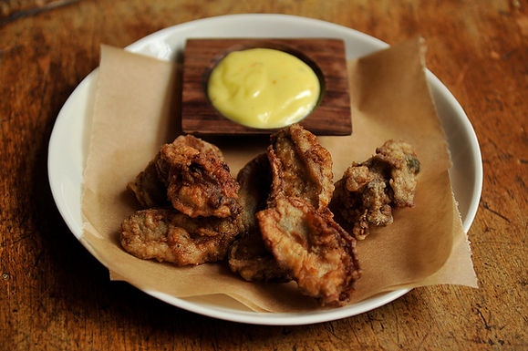 Fried Oysters with Saffron A