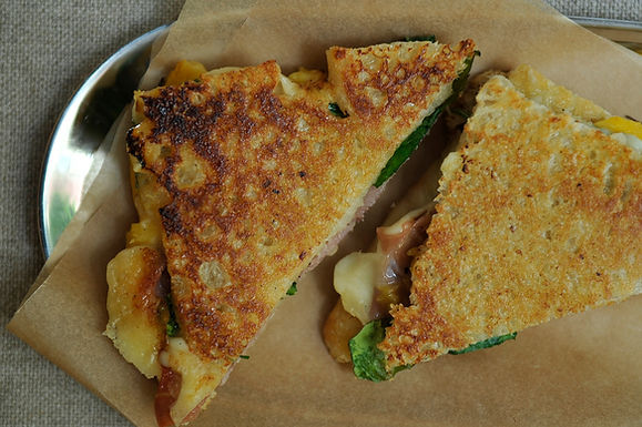 Prosciutto, Nectarine and Fontina Panini