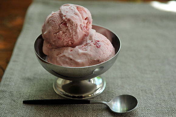 Strawberry Fennel Ice Cream