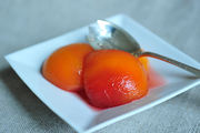 Poached Peaches with Basil