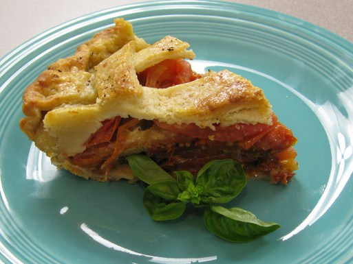 Tomato Caprese Pie