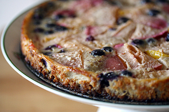 Plum and Blueberry Custard Tart with Hazelnut Crust