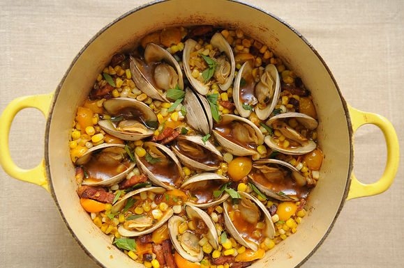 Corn, Bacon & Clam Stew