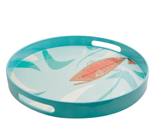 Charley Harper Fish Lacquer Tray