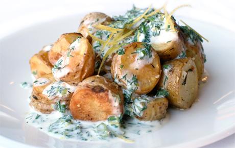 ... -Roasted Fingerling Potatoes with Buttermilk-Yogurt Herb Dressing