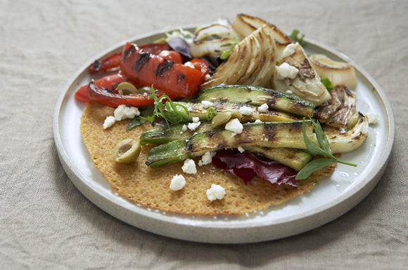 Grilled Flatbread Salad Provencal