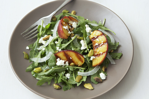 Grilled Peach and Feta Salad