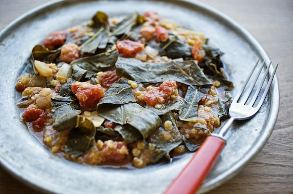 collards tomatoes lentils indian spices jody horton