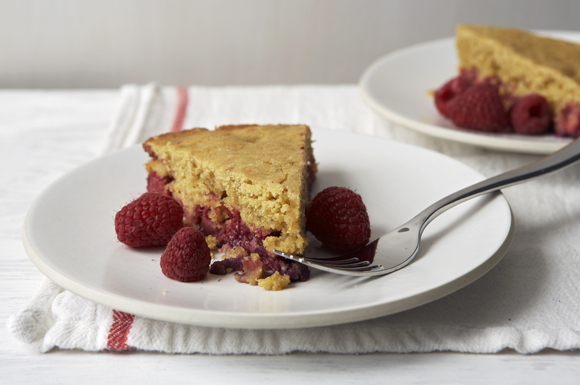 Rustic Red Ribbon Cornmeal Cake