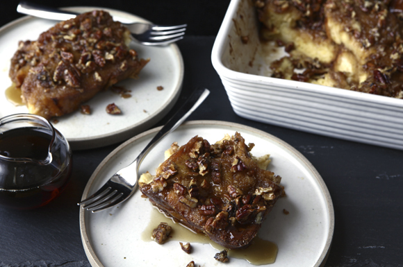 baked french toast maple pecan