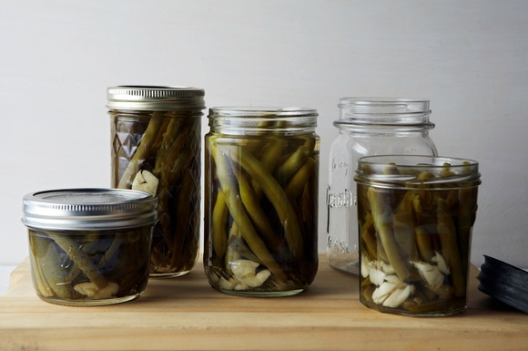 Spicy Pickled Green Beans and Jalapenos