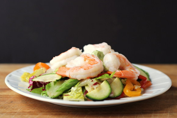 Shrimp Salad with Avocado Sauce
