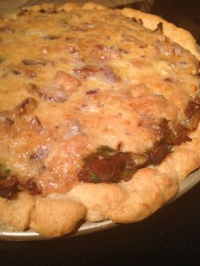 Easy Brussels Sprout, Mushroom and Bacon Quiche