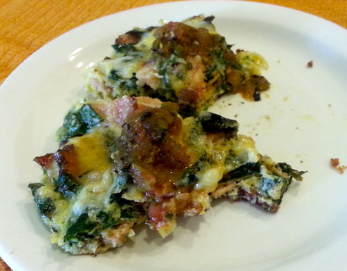 Bacon 6Rainbow Chard Frittata
