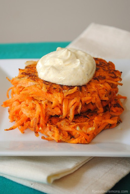 Maple_sweet_potato_cakes_with_curried_greek_yogurt